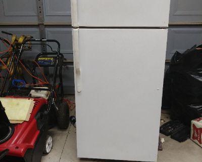 white garage frigerator
