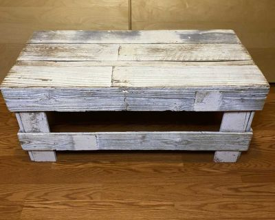 Rustic white washed coffee table