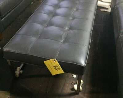 Leather Ottoman - NEW - FURNITURE NOW - LEATHER OUTLET