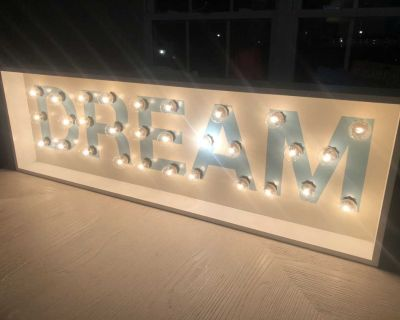 Large Lighted Sign Dream