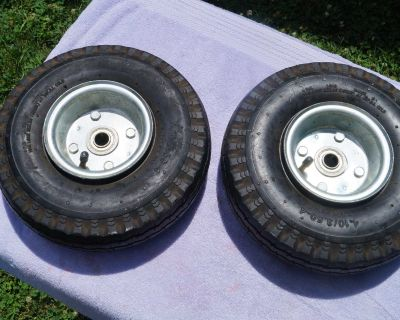 Two (2) Handtruck Wheels and Tires