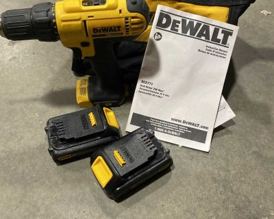 Dewalt cordless drill with charger and 2 batteries
