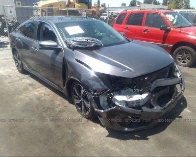 Salvage Gray 2017 Honda Civic Sedan