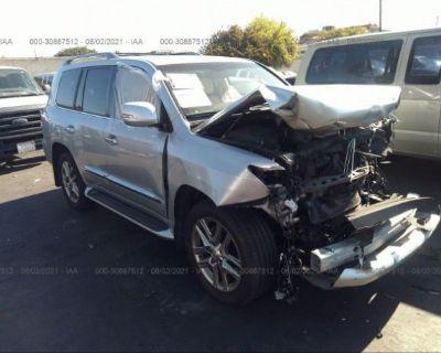 Salvage Silver 2013 Lexus Lx 570