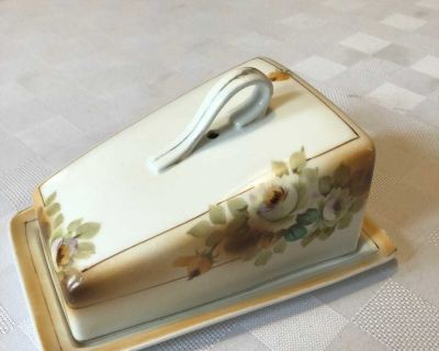 ANTIQUE NIPPON CHEESE/BUTTER DISH