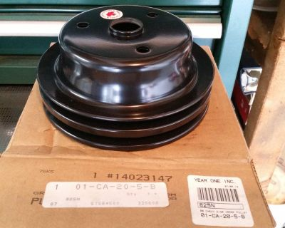 NEW GM 14023147 Crank Pulley 1967-81 Camaro WILL SHIP Crank pulley fits 1967-1968 350 without A/C