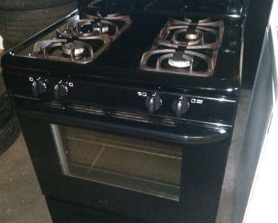 Frigidaire natural gas stove and refrigerator