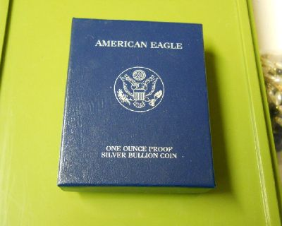 2004 PROOF AMERICAN SILVER EAGLE I OZ .999 WALKING LIBERTY COIN