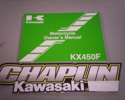 New Kawasaki Owners Operators Manual Kx450f Kxf 2009 09