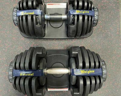 90lb Adjustable Dumbbell Set