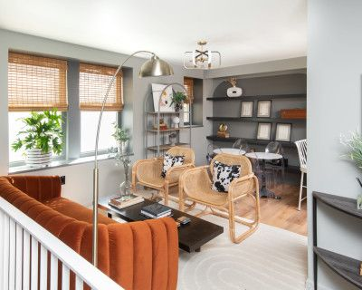 Unique and Whimsically Designed Two Floor Apartment, Washington, DC