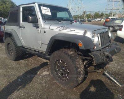 Salvage Silver 2011 Jeep Wrangler