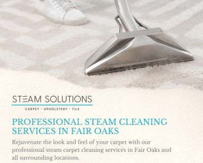 Professional Steam Cleaning Services In Fair Oaks