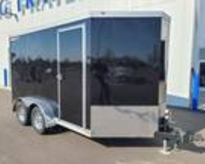 2021 Wells Cargo Wagon HD 7x12 Tandem Axle Cargo Trailer - BLACK