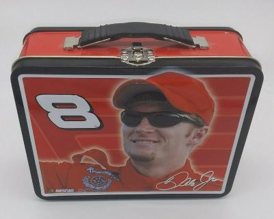 Never Used! Dale Earnhardt Jr #8 Square Metal Lunch Box