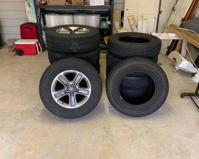 North Carolina - 5 18 in Jeep Wrangler stock rims and Bridgestone 255/70R18 112T And 5 Bridgestone 255/70R18 113T