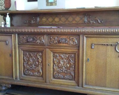 Antique Belgium 9 piece Dining Set