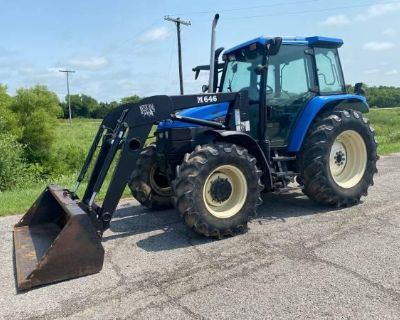 New Holland TS110 4x4 Tractor with Cab and Loader