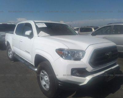 Salvage White 2020 Toyota Tacoma 2wd