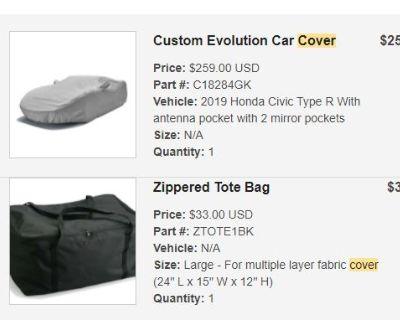 California - FS: Civic Type R Custom Evolution Car Cover - Outdoor