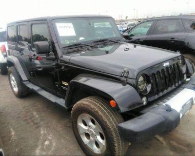 Salvage Black 2014 Jeep Wrangler Unlimited