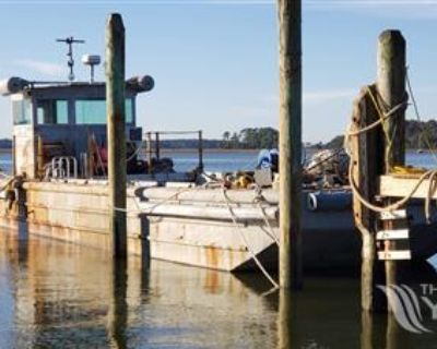 1987 50' x 14' x 3' Steel Work Boat/Cargo Tug for sale