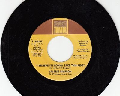 VALERIE SIMPSON & Group ~ I Believe I'm Gonna Take This Ride*Mint-45 !