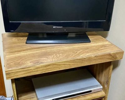 26inch tv $35, tv stand $15 and DVD player $15