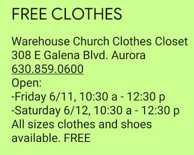 FREE clothes and shoes