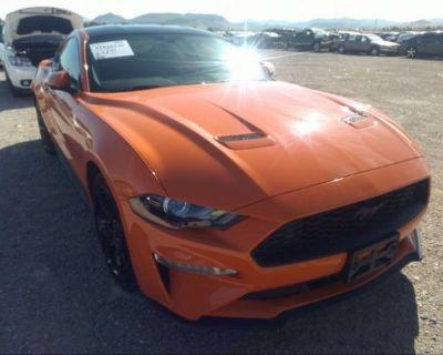 Salvage Orange 2020 Ford Mustang