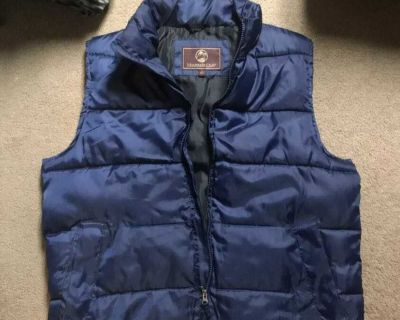 Mountain Club Men's Puffer Vest Insulated Navy Blue