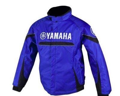 New Mens Yamaha Adventure Snowmobile Winter Trail Jacket Blue Size: Large Lg