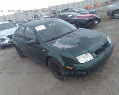 Salvage Green 2000 Volkswagen Jetta