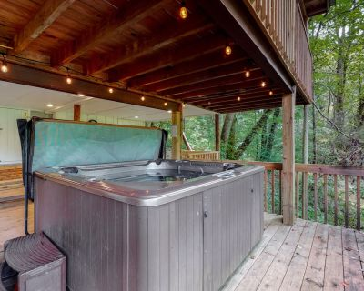 Secluded cabin w/ creek views, private hot tub, gas grill, and firepit! - Blue Ridge
