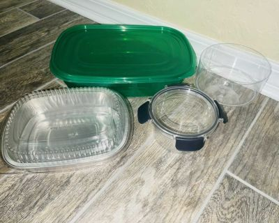 Set of 4 Storage Containers like NEW
