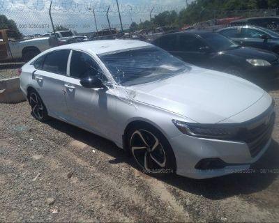 Salvage White 2021 Honda Accord Sedan
