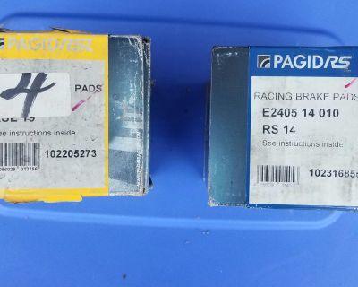 New Pagid Yellow (RA-19) and Black (RS-14) brake pads