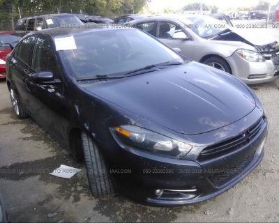 Salvage Gray 2013 Dodge Dart
