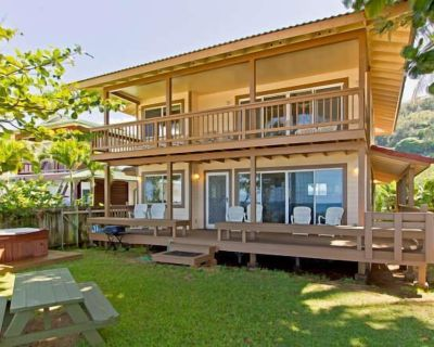 North Shore beachfront, luxury with hot tub and air conditioning - Pupukea