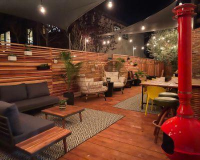 Midcentury Boho Large Outdoor Deck, Castro Valley, CA