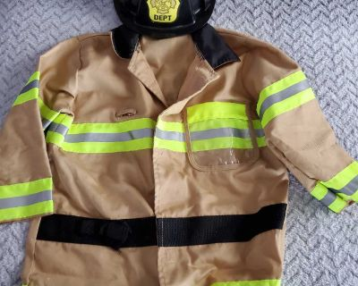Firefighter dress up jacket and hat