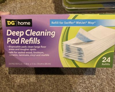 DG Home Deep Cleaning Pad Refills - Refill for Swiffer Wet Jet Mop - 24 count New & Unused