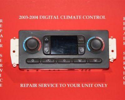 2003 2004 Tahoe Yukon Sierra Silverado Suburban Avalanche Climate Control Atc