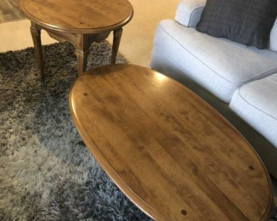 Ethan Allen Heirloom Coffee Table and End Table