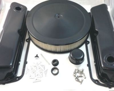 Sb Ford Sbf Black Steel Engine Dress Up Kit W/ Air Cleaner 260 289 302 351w V8