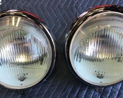 Rblt- Hella Headlights,W/Porsche Style Fluted Lens