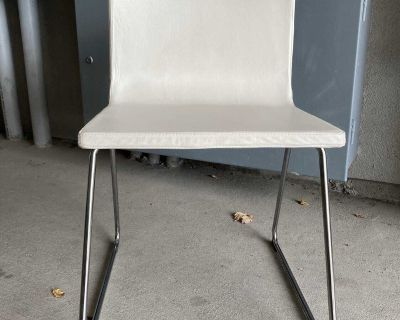 Volfgang Dining Study Chair; Chrome-plated Legs, Soft, Padded Seat