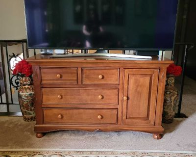 wood tv stand/coffee bar/changing table/buffet