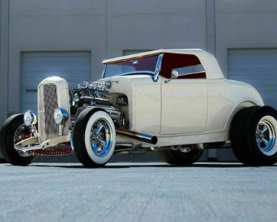 1932 Ford High-Boy Chopped Convertible Hi-Boy Restored Roadster V8-8