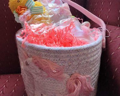 Unicorn Basket with Baby Girl gifts